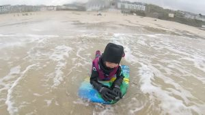 Bodyboarding in St Ives, Cornwall