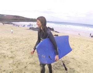 First Time Body Boarding