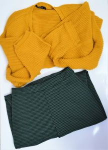 Green Check and Mustard Yellow