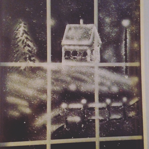 Snow Spray Window Art