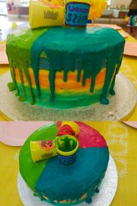 Drip slime cake