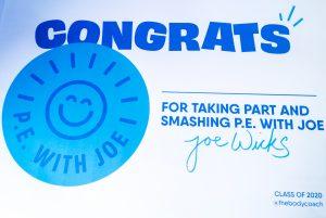 PE with Joe Certificate