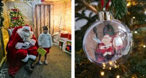Santa in his Grotto at Dobbies, Aylesbury