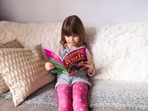 Eva Kisby reading Alexander and the Curly Wurly Caterpillar